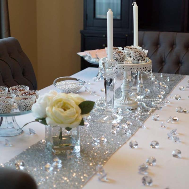 10pcs 20mm Clear Diamond Table Centerpiece scatter Wedding Bridal Shower Decors