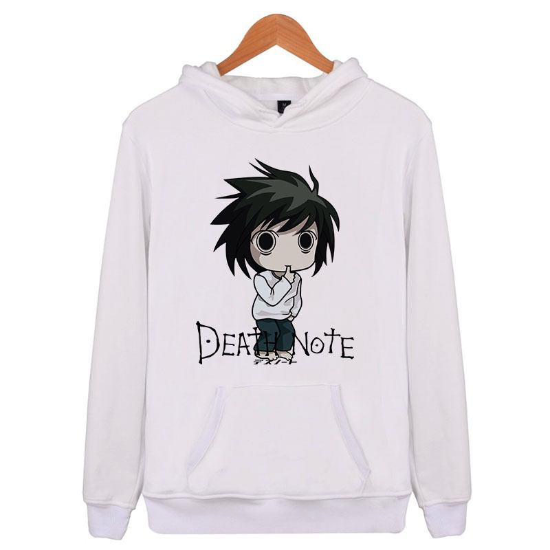 Death Note 2018 Hip Hop Spring Mens Sweatshirts Hoodie Harajuku Casual Hoodie Men/Women Print Clothes Q5340