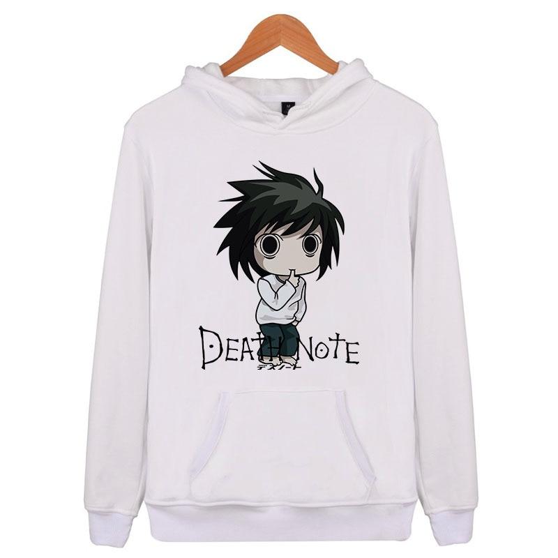 Death Note 2018 Hip Hop Spring Mens Sweatshirts Hoodie Harajuku Casual Hoodie Men/Women Print Clothes Q5340