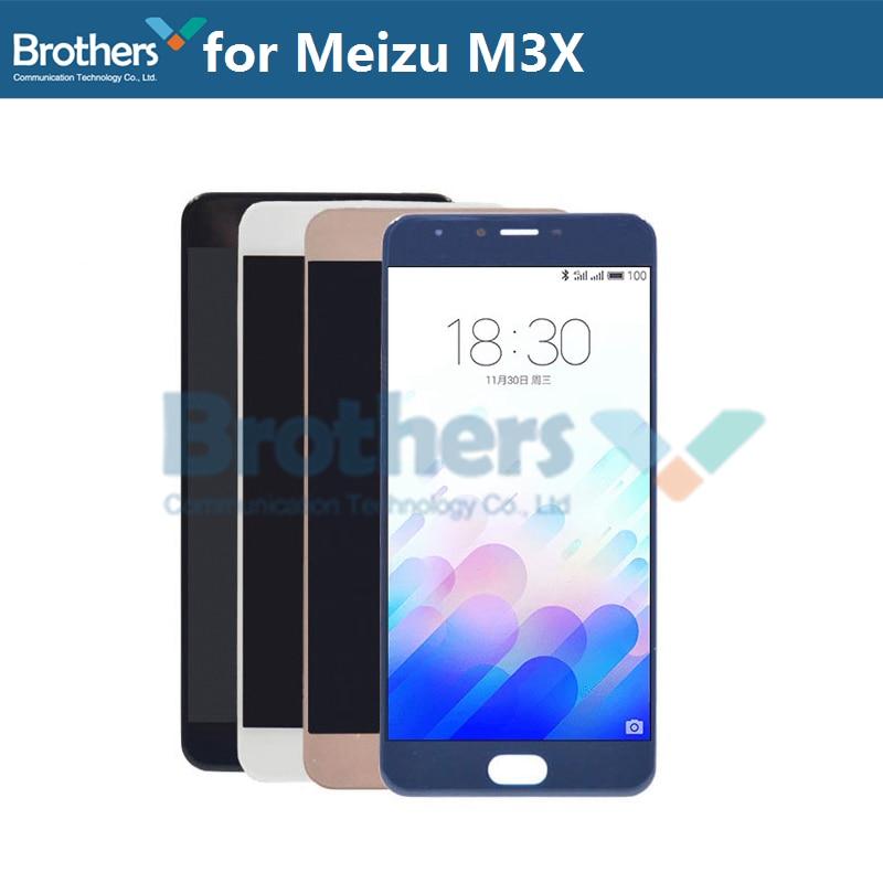 Schermo LCD Per Meizu M3X Display A CRISTALLI LIQUIDI per Meilan X M682Q M3X Assemblea LCD Touch Screen Digitizer Originale di Ricambio Del Telefono di prova