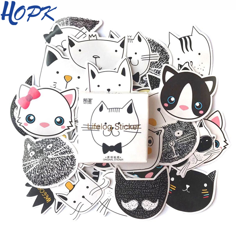 45 Pcs/Set Cute Cat Stickers Planner Scrapbooking Decoration Diy Label Journal Sticker Diary Album Stick Stationery