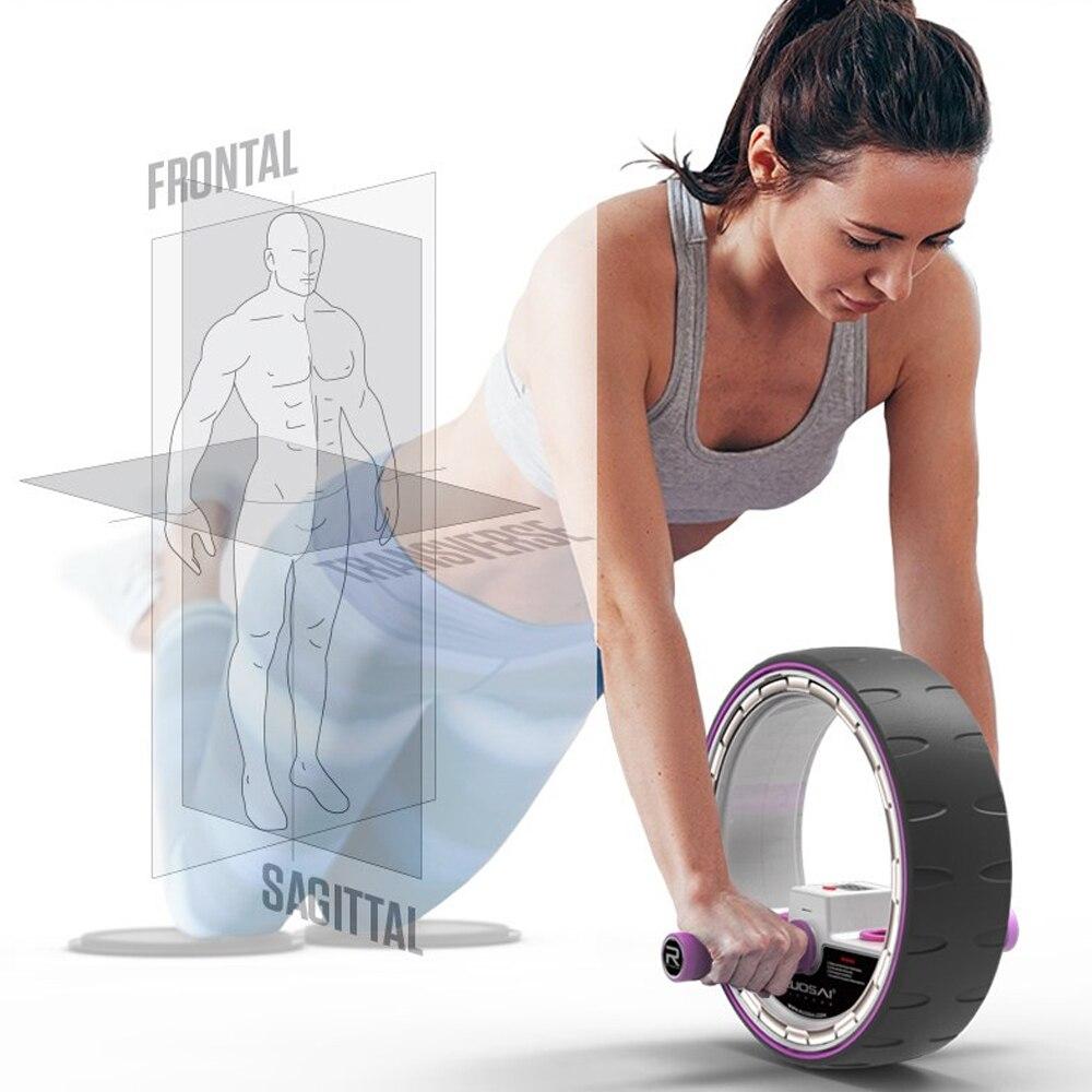 Rodillo de ruedas para abdominales con contador electrónico, rueda de entrenamiento central, equipo de ejercicio Abdominal, Pefect para hombre y mujer - 6