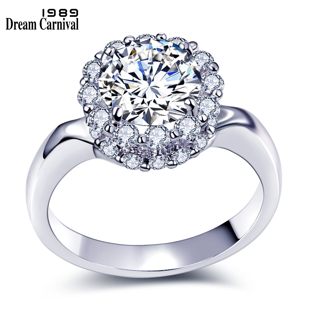Dreamcarnival 1989 Classic Design Wedding Proposal Ring: DreamCarnival 1989 Best Petite Wedding Propose Jewelry