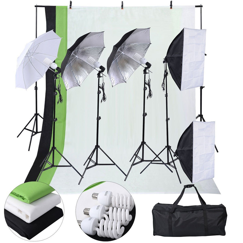 Aliexpress.com  Buy Photography Lighting Kits 3*2M Photography Backdrop Support Stand Tripod Backdrops Chromakey Green Black White Umbrellas Softbox from ...  sc 1 st  AliExpress.com : chroma key lighting kit - azcodes.com
