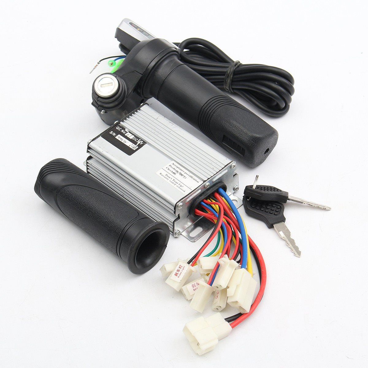 1Set 1000W 36V Motor Brushed Controller Throttle Twist Grips For Electric Bike Scooter throttle hand grips brake levers throttle housing set for goped gas scooter 43cc 47cc 49cc minimoto bicycle parts