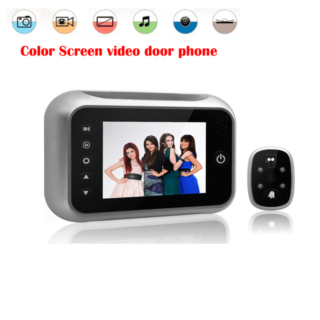 3.5 inch high definition digital peephole viewer  Color Screen video door phone photo shooting function night vision function
