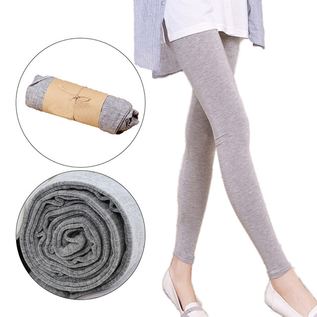 1PC Women Fashion Simple Solid Leggings Women Stretchy Cotton Skinny Leggings Sexy Colorful High Waist Legging Clothes Accessory 13