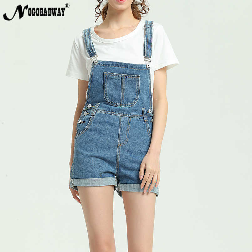 2e235559105 2018 New Summer Short Denim Jumpsuit Women Casual Jeans Romper Playsuits  Fashion Bandage Dungarees Overalls Shorts