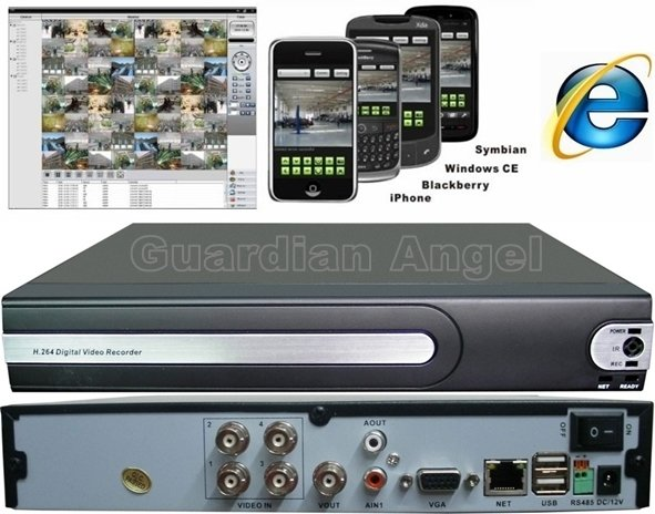 Dvr Best Price 4ch H 264 Real Time Network Security Cctv