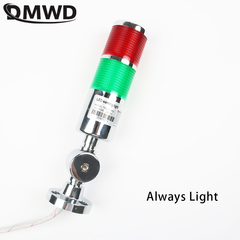 12V 24V  Safety Stack Lamp Red Green  LED  Industrial Tower Signal Light LTA Sliver Indicator Light Always Light