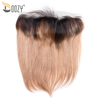 Doozy Two Tone Ombre T1B 27 13 4 Ear To Ear Lace Frontal Closure Pre Plucked