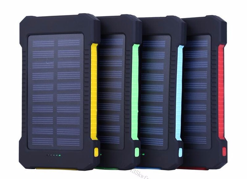 2018 Portable Waterproof Solar Power Bank 20000mAh Dual-USB Solar Battery Charger Cases for all Phone Universal Batteries
