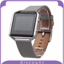 New Gray Fitbit watchBand Genuine Leather Bracelet Strap Replacement Band For Fitbit Blaze Smart Fitness Watch Genuine Leather