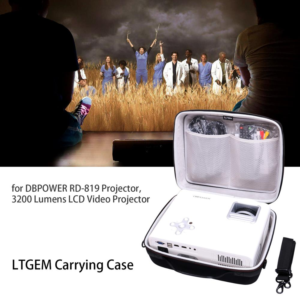 LTGEM Travel Carrying Protective Case for DBPOWER RD 819 Multimedia Poratble Home Theater Projector