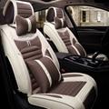 3D Cubierta de Asiento de Coche Cojín de Lino Coche Cubre Para Toyota Corolla RAV4 Highlander Sienna Prius Prado zelas verso Marca X Corona
