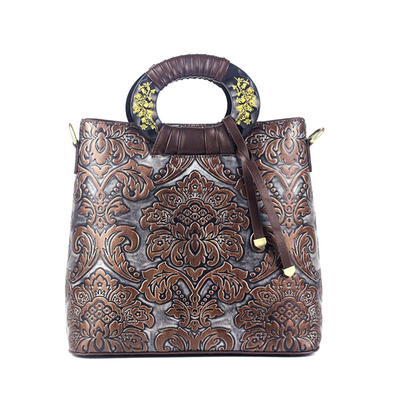 New Original Handmade Retro Women Bag Crossbody Package High Quality PU Leather Women Bags Floral Embossed Handbag pu leather martins women boots snow boots military girls for casual walking shoes winter femme bota 2017 7687