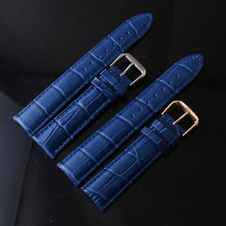 New Watchbands 20mm Dark Blue Crocodile Alligator Grain Genuine Calfskin Calf Leather Replacement Watch Band Strap Watchband 1dea me карта travel map marine world