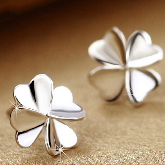 Cute Noble Rose Flower Studs Earring brinco brincos 925 Sterling Silver Jewelry Women's Tiny Ear Stud Earrings EAR-0041