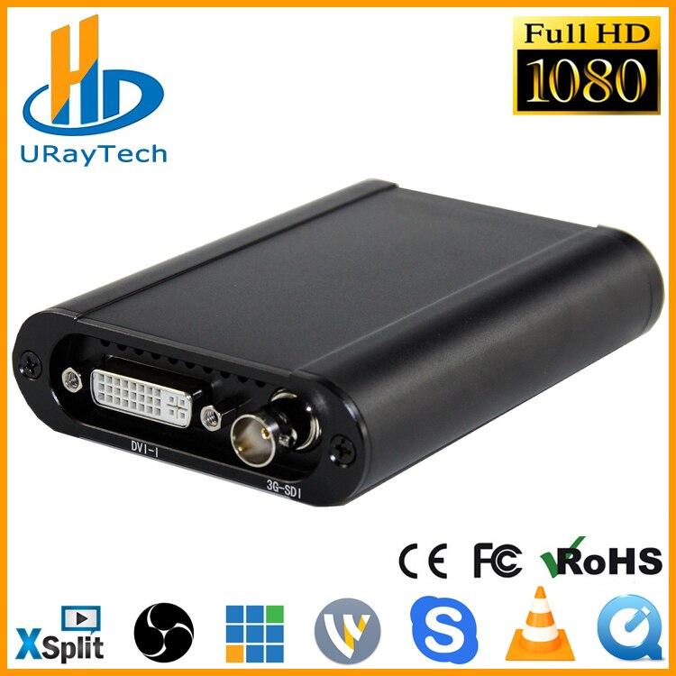 Meilleur HD 1080 p HD 3g SDI + HDMI + VGA + YPbPr + DVI Capture Dongle Live Streaming vidéo Audio Carte de Capture Jeu Vidéo Grabber