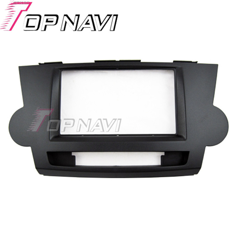 Topnavi 2DIN Quality Car Radio Fascia for Toyota Highlander 2010 AutoStereo Interface Dash CD Trim Installation Kit