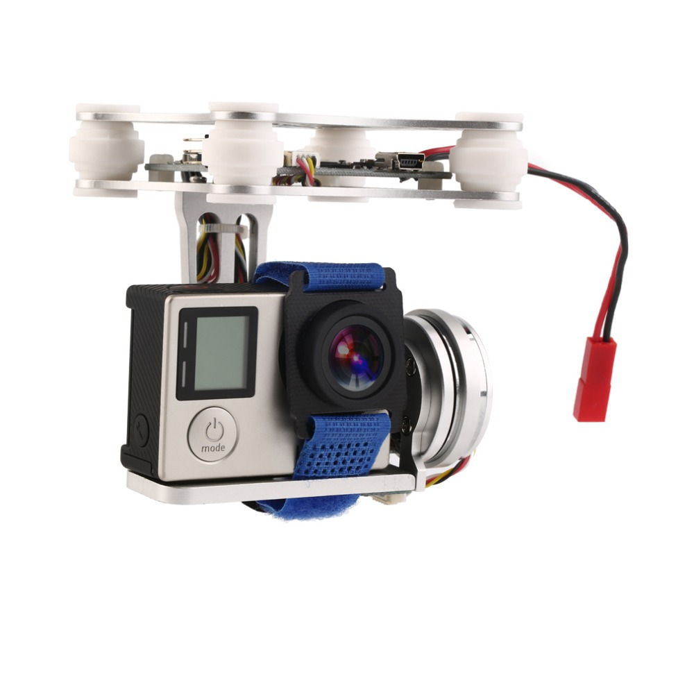 Gopro3 Gopro Lightweight 2-AXIS Brushless Gimbal Board with Sensor Free Debug for RC FPV Airplane rtf ready to fly 3 axis gopro brushless gimbal fpv stablizer alexmos v2 4 fully assembled for gopro3 hero 3 big board