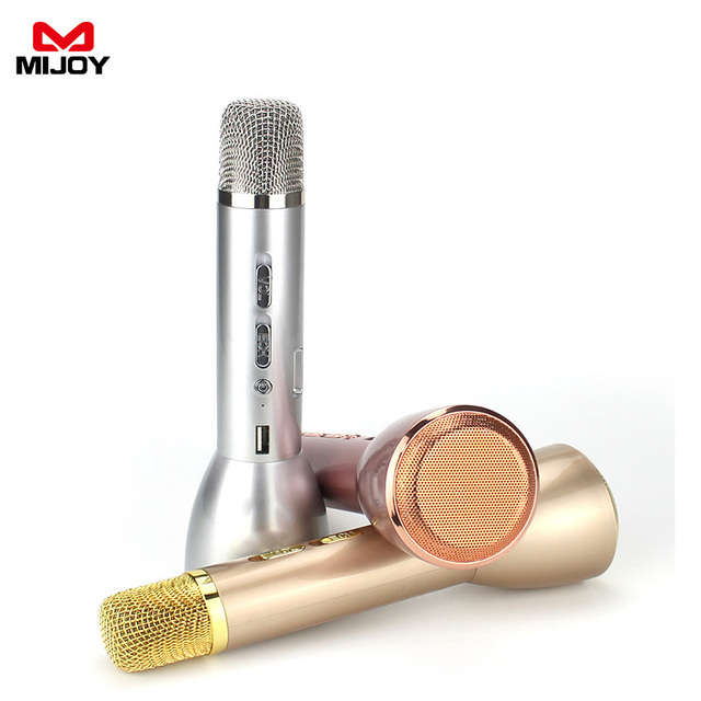 MIJOY K088 Karaoke Microphone Wireless Professional Music Condenser Microphone With Mic Speaker KTV Singing Record For Phones PC