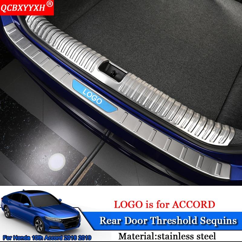 QCBXYYXH Car-styling Car Internal External Scuff Plate/ Door Sill Threshold Trim Car Accessories For Honda 10th Accord 2018 2019