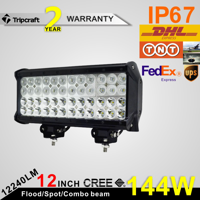 Offroad ramp lamp, 144w 4 row led ligth bar with high low beam function