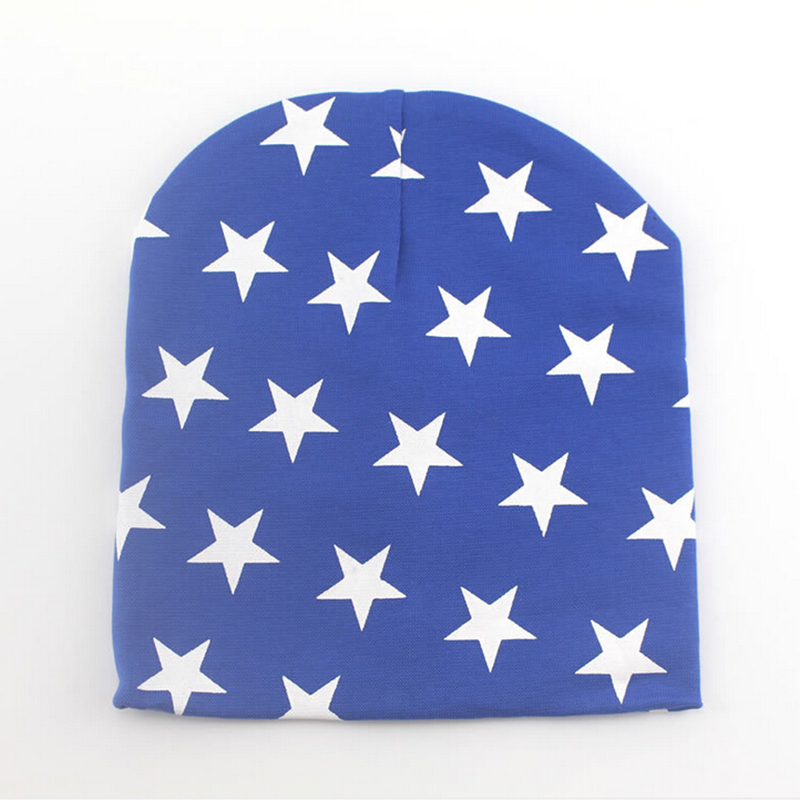 Fashion Star Cotton Baby Beanie Cap Spring Autumn Baby Hats For Boys Colorful Print Girl Hat Soft Lucky Child Baby Boy Clothing