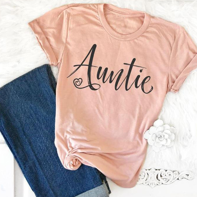 2018 auntie tee women pink t-shirts sexy female thankful top womens tshirt gothic tops sexy shirt punk