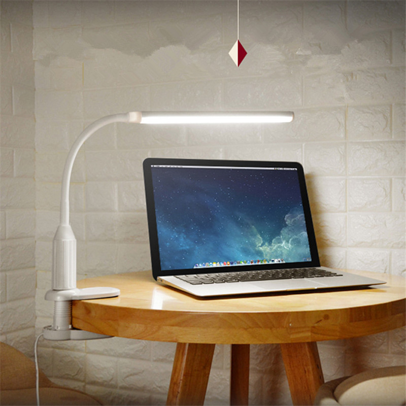 Eye Protection Folding LED Table Desk Clip Lamp Reading Book Light Plug Dormitory Child Study Bedroom Bedside Lamp Touch Switch xiaomi smart desk lamp second generation led eye protection college students bedroom study desk bedside lamp