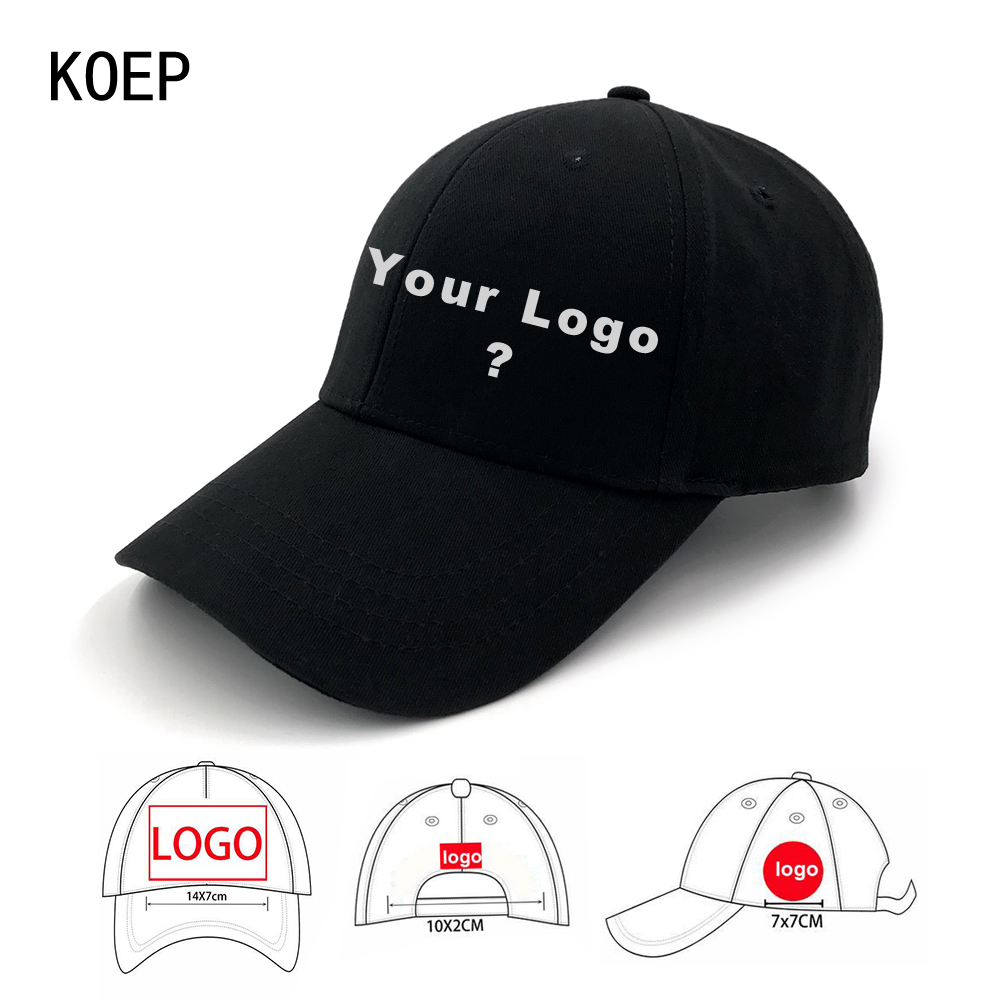 KOEP Factroy Wholesale 50pcs Free Shipping Custom Baseball Cap Adult And Children Logos Caps Custom Your