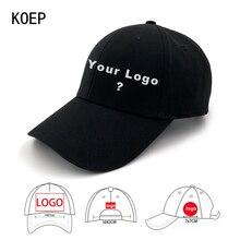 Koep factroy atacado 50 pçs frete grátis personalizado boné de beisebol adulto e crianças logotipos bonés personalizado seu design
