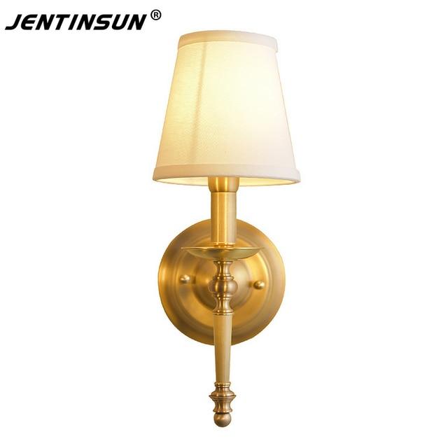 Américain De Luxe Style Applique Murale en Cuivre Chambre Lampe De