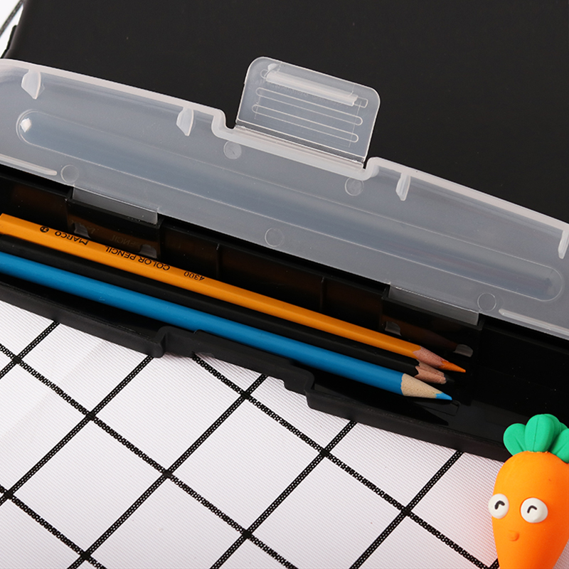 Image 4 - 1 шт., черный классический Многофункциональный органайзер для файлов, пластиковая коробка для буфера обмена, папка для файлов, ручка, канцелярские принадлежности JB15Папка для файлов    АлиЭкспресс