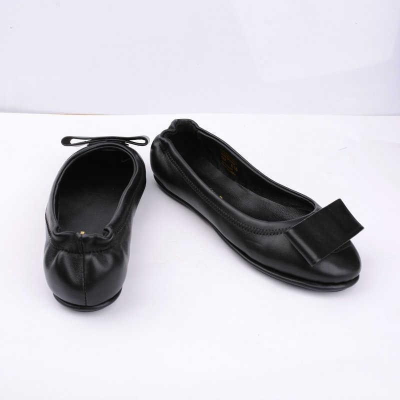 UMMEWALO дамские туфли на плоской подошве мягкие балетки женская обувь высококачественные Повседневное круглый носок балетки женские туфли из натуральной кожи