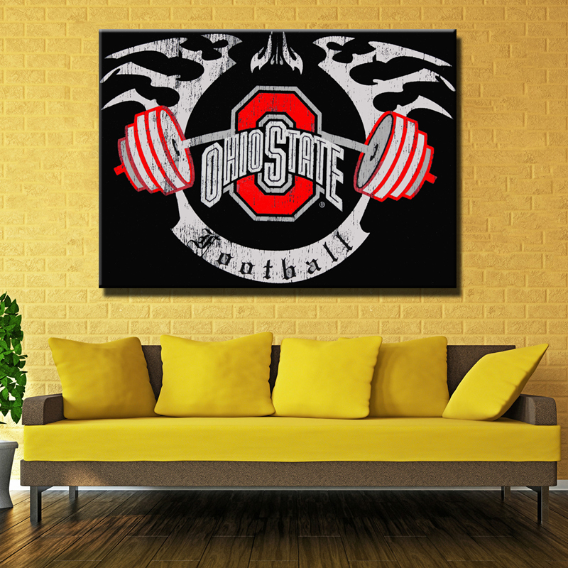 canvas Painting Ohio State Buckeyes For Wall Painting Removable ...