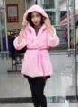 2016 75cm new rabbit fur coat