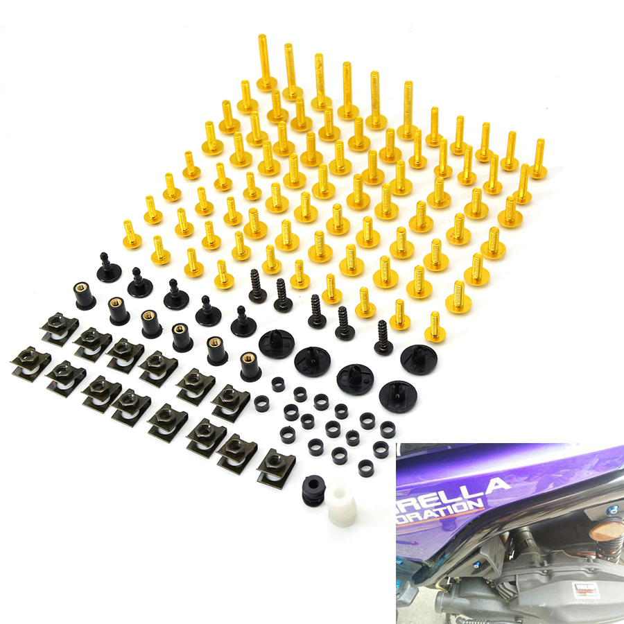 Motorcycle accessories Fairing Bolt Screw Fastener Fixation for honda hornet kawasaki z750 mt 09 cb400 z1000 honda vtr 1000f cb7