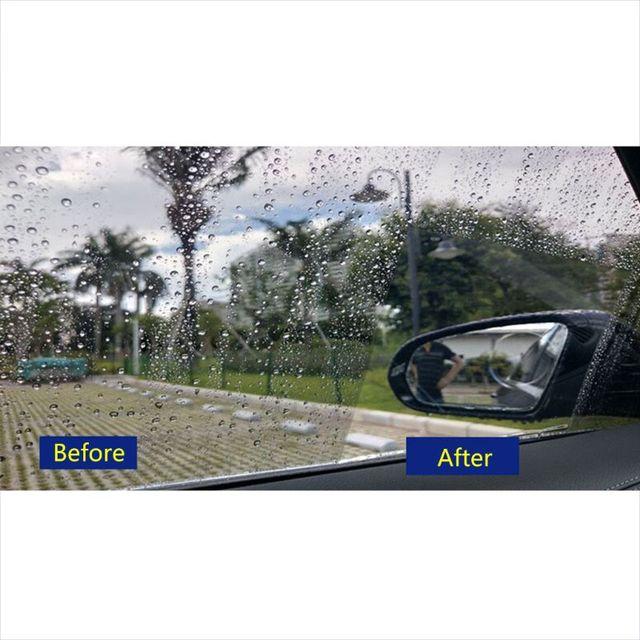 Nouveau 1 paire Auto voiture Anti brouillard d'eau Film Anti brouillard revêtement étanche à la pluie hydrophobe rétroviseur Film protecteur 4 tailles 2