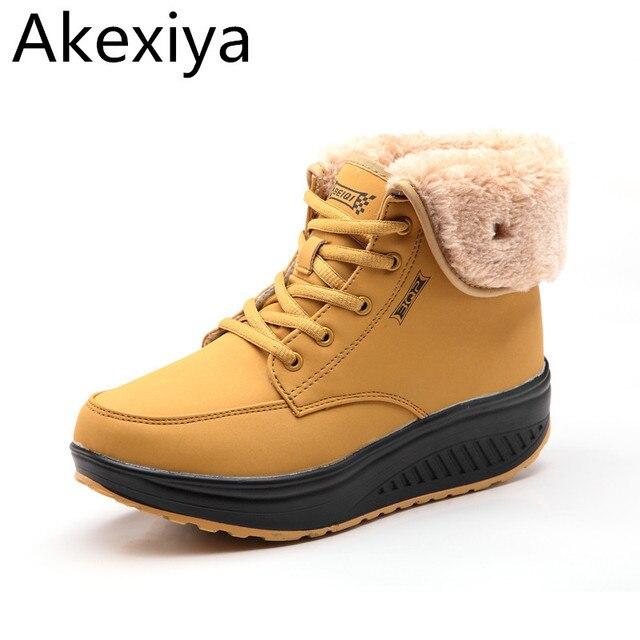 Winter Bont Gevoerd Vrouwen Sneeuw Warm Enkellaarsjes Akexiya wvN80Omn