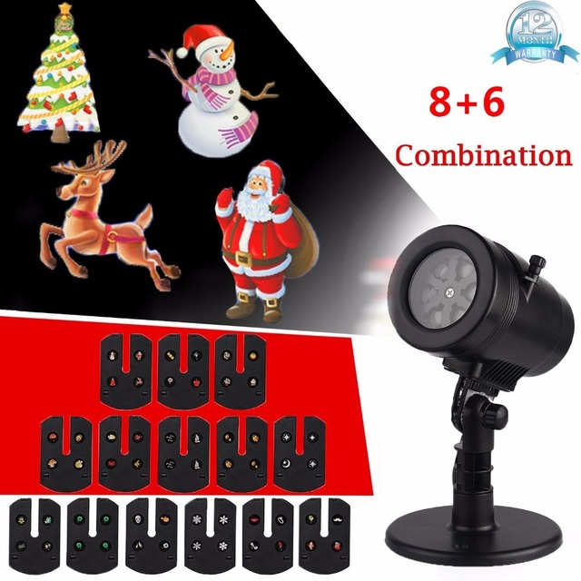 outdoor indoor christmas night light projector with 14 switchable