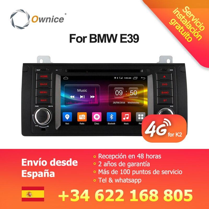 Ownice 4g SIM LTE Android 6.0 Octa Core 32g ROM Au Tableau de Bord Voiture Lecteur DVD Pour BMW E39 x5 M5 E38 E53 Avec Wifi GPS Navi Radio FM