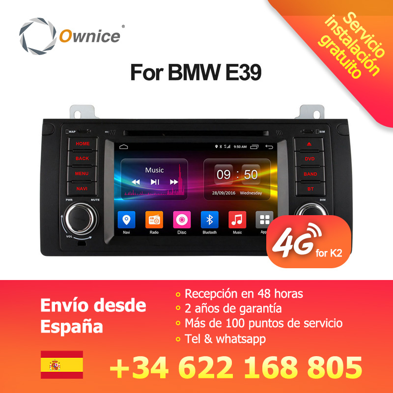 Ownice 4g SIM LTE Android 6.0 Octa Core 32g ROM In Dash Car DVD Player Per BMW E39 x5 M5 E38 E53 Con Wifi GPS Navi Radio FM