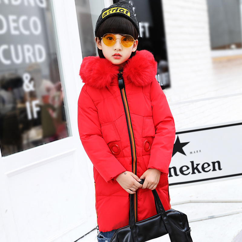 Children Parkas Winter Outerwear Girls Winter Warm Hooded Coats Kids 80% Duck Down Jacket for Teenage 6 8 10 12 14 Years
