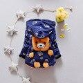 Bebê Meninos Crianças Casaco Outerwear Jaquetas de Moda Infantil para Meninos & meninas Urso Dos Desenhos Animados Inverno Quente Casaco Com Capuz Crianças Roupas