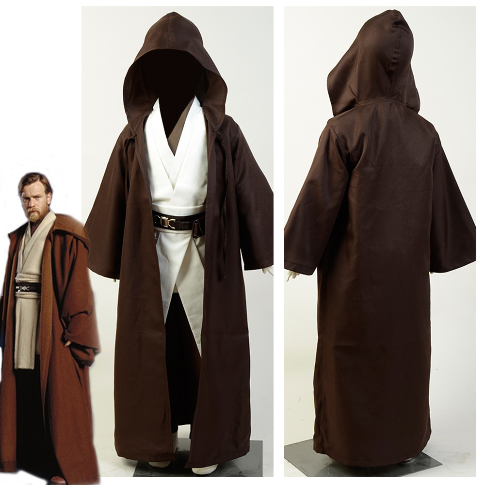 STAR WARS JEDI Knight Robe Hooded Cloak Cape Costume Halloween Cosplay Gift