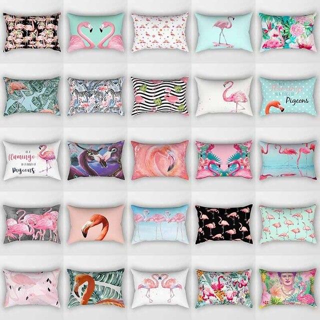 Doppi lati tropicale flamingo cassa del cuscino animale cuscino copre modello pi