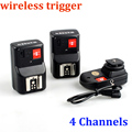 Universal 4 Channels Wireless Remote Speedlite Flash Trigger 1 Transmitter & 2 Receivers for Canon Nikon Pentax Olympus