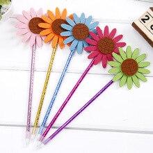 48 Pc/lot Creative Sunflower Ballpoint Pen / Student Stationery Prize/flower Ball Pen/student Gift